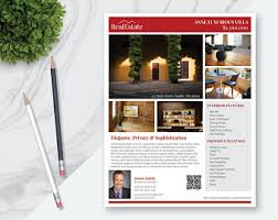 real estate flyer template 10 photos double sided pages