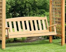 treated pine greenfield arbor and swing set