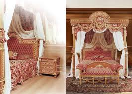 luxurious bed with canopy solid carved idfdesign