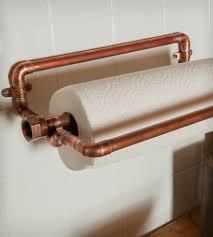 industrial copper paper towel holder home kitchen u0026 pantry