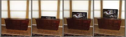 auto raising tv cabinet tv with pop up tv lift mounted behind furniture