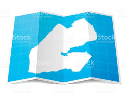 Djibouti Map Djibouti Map Folded Isolated On White Background Stock Vector Art