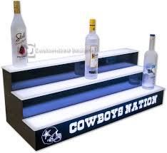 lighted bar shelves 3 tiers custom options free shipping