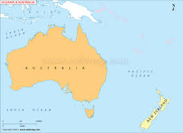 map of australia and oceania countries and capitals australia oceania outline map australia oceania blank map