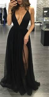 dresses for graduation v neckline spaghetti straps black graduation dress