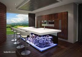 contemporary kitchen island designs nautical theme for modern kitchen design with aquarium kitchen island