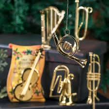 small gold musical instrument ornaments ornaments