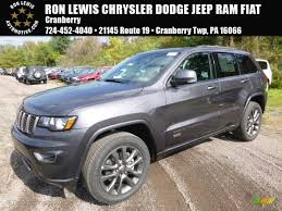 jeep grand cherokee 2017 grey 2017 granite crystal metallic jeep grand cherokee limited 75th