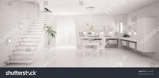 Designs Of Modern Kitchen by Interior Design Modern White Kitchen Panorama Stock Illustration
