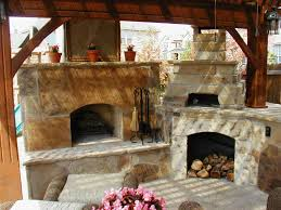 Pizza Oven Fireplace Combo by Outdoor Fireplace And Pizza Oven Combination Artistic Color Decor