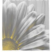Yellow Flower Shower Curtain Yellow And Gray Shower Curtains Zazzle