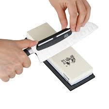 Sharpening Stones For Kitchen Knives Portable Whetstone Knife Sharpening Angle Guide Ceramic Sharpening