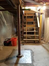 lally column replacement premier basement waterproofing