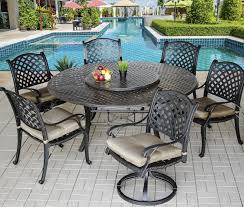 Round Table Patio Dining Sets - nassau outdoor patio 7pc dining set with series 5000 71