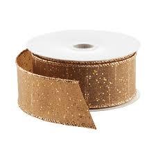 bronze dupioni glitter wired ribbon the container store