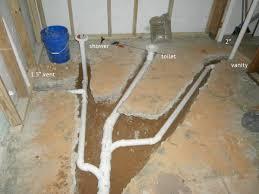 Basement Bathroom Plumbing Flexible Tee Fitting On Main Sewer Line - Plumbing for bathroom