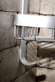 Wall Mount Bathroom Accessories by Wall Mounted Corner Rack Single Tier Aluminum Shelf Wall Rack