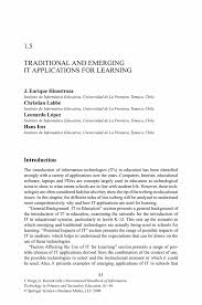 Sample Respiratory Therapy Resume by Traditional And Emerging It Applications For Learning Springer