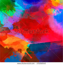 abstract watercolor palette blue colors mix stock vector 170268545