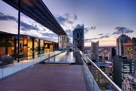 sensational long top roof private pool design with clear glass