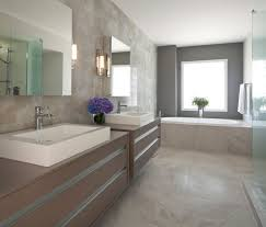 taupe bathroom contemporary with towel bar transitional sinks
