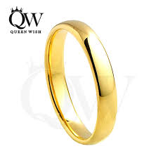 e wedding bands queenwish 4mm simply vintage gold rings for women tungsten carbide