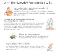 what s included everyday roots book live a healthier natural life