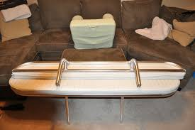 large custom folding rear bench seat and matching backrest for