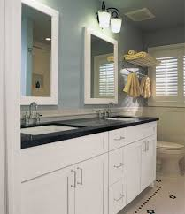 Small Bathroom Countertop Ideas Robin Egg Blue Color With White Vanity Using Black Countertop For