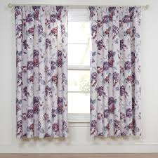 Purple Floral Curtains Abigail Plum Lined Floral Pencil Pleat Thermal Curtains Pair