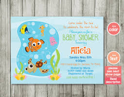 baby shower invitations under the sea baby shower invitation ocean invitation finding nemo nemo