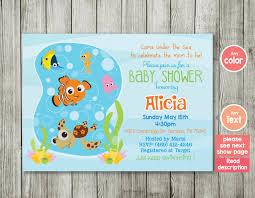 baby shower invitation ocean invitation finding nemo nemo