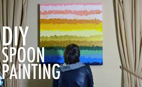 canvas painting for home decoration diy spoon painting easy home decorating with mr kate youtube