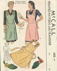 Apron Designs And Kitchen Apron Styles Mccall 1105 Vintage Sewing Patterns Fandom Powered By Wikia
