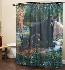 Rustic Bathroom Shower Curtains Rustic Shower Curtains Moose Pinecone Designs