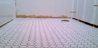 home decor inspiring small white pentagon bathroom floor tiles