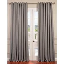 exclusive fabrics u0026 furnishings semi opaque neutral grey grommet