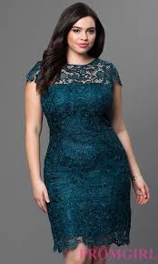 cheap knee length plus size lace party dress promgirl