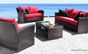 furniture columbia patio furniture outdoor wicker sectional with