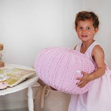 pink pouf ottoman knitted pouf knit pouf nursery decor
