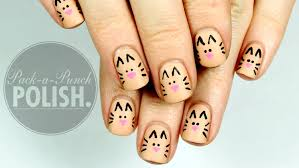 super cute u0026 easy cat nail art tutorial packapunchpolish youtube