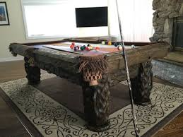 Pool Table Jack Log Pool Tables Rustic Billiards