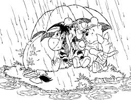 coloring rain coloring pages