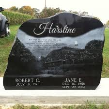 legacy headstones unique bolder headstone created by legacy headstones bolder