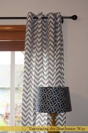Gray Chevron Curtains Decorating The Dorchester Way Chevron Curtains