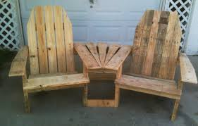 Patio Pallet Furniture Plans by Furniture Amazing Double Chairs Wood Pallet Ideas With Coffee