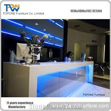 Lighted Desk Straight Shape China Factory Supply Blue Color Lighted Bar Counter