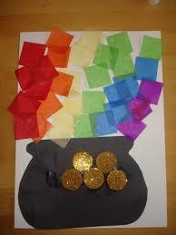 preschool crafts for kids st patrick u0027s day tissue rainbow pot