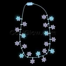 central r329 led light up snowflakes necklace