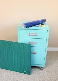 Teal File Cabinet Makeover A Filing Cabinet With Custom Cut Vinyl